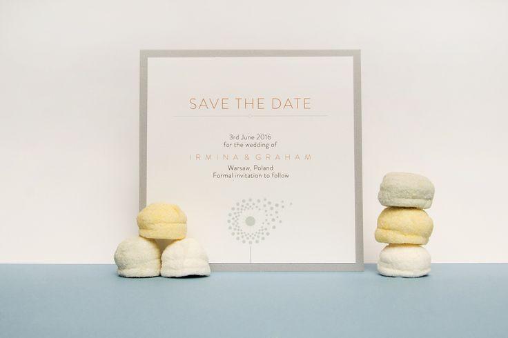 Eleganckie zaproszenia ślubne, ręcznie robione karty Save The Date.