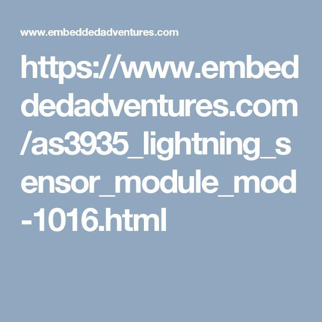 https://www.embeddedadventures.com/as3935_lightning_sensor_module_mod-1016.html