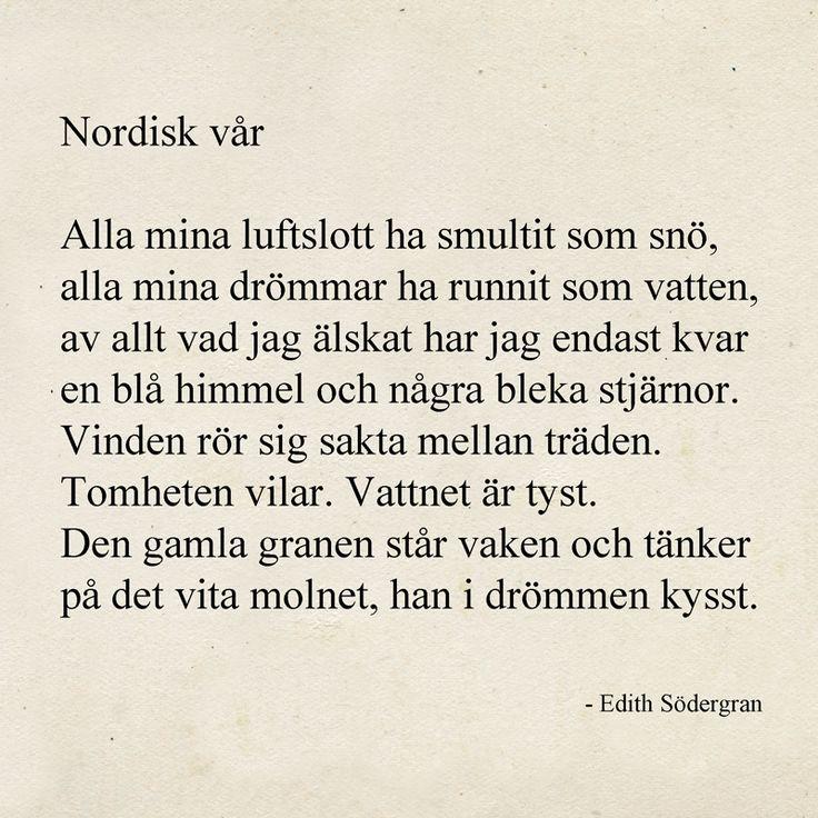Nordisk vår av Edith Södergran