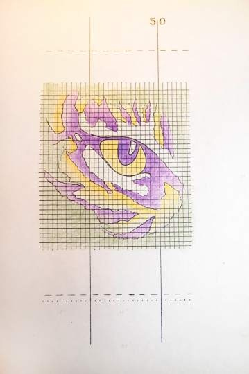 46 best lsu cross stitch images on pinterest crocheting patterns lsus eye of the tiger logo and its artist endure from the advocate fandeluxe Gallery