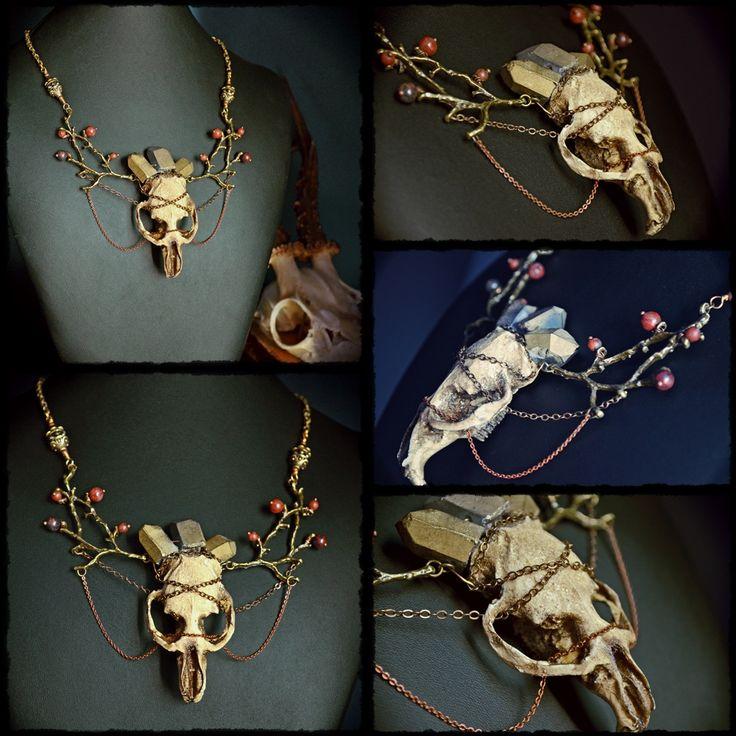 Muskrat skull replica, quartz, brass...  https://www.facebook.com/Anamnesis.Syndrome/