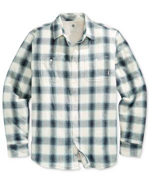Element Men's Fleece Plaid Shirt - Blue M