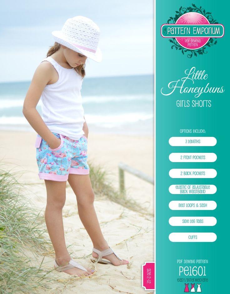 Little Honeybuns : Girls Flat Front Shorts. Elastic back.