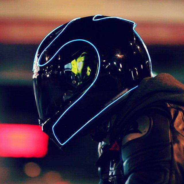LightMode Electroluminescent Motorcycle Helmet Kit   ////////////////////////////////////////////////////////////////////  (gadgets, Awesome gear, cool tech, helmet, outdoor tech, motorcycle gear)