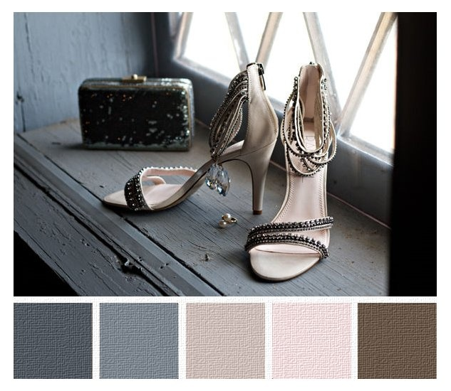 Grey to brown through pink - LOVE LOVE LOVE these colors - way to integrate pink in office in with blue and brown?  wall color?
