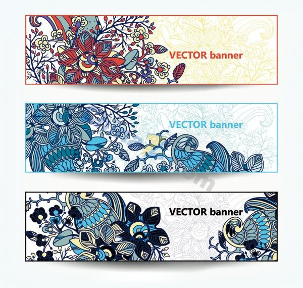 Retro pattern banner template vector
