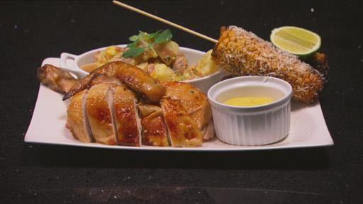 Cider Can Chicken, Papa Sita's Corn Cob, Potato Salad and Garlic Aioli | MasterChef Australia