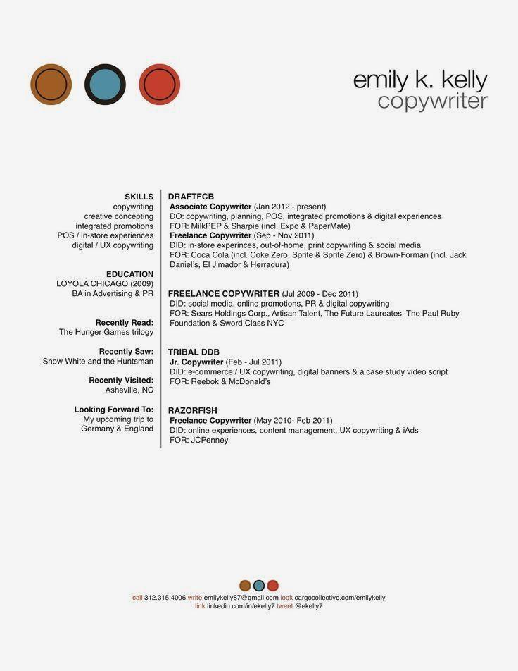 Online Copywriting Portfolio Examples Copywriting Copywriting Portfolio How To Make Resume