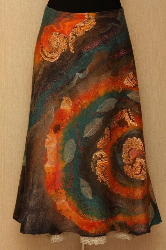 The new spiral / Felted Clothing / Skirt by LybaV on Etsy