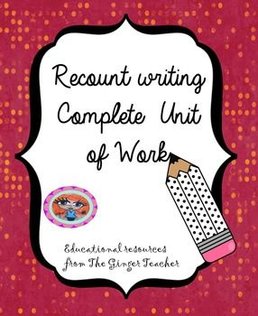 This download includes a complete two-week English unit on recount writing. Children will examine recount texts in different mediums and then create their own pieces of writing, before finally applying the techniques they have learnt to other areas of writing.
