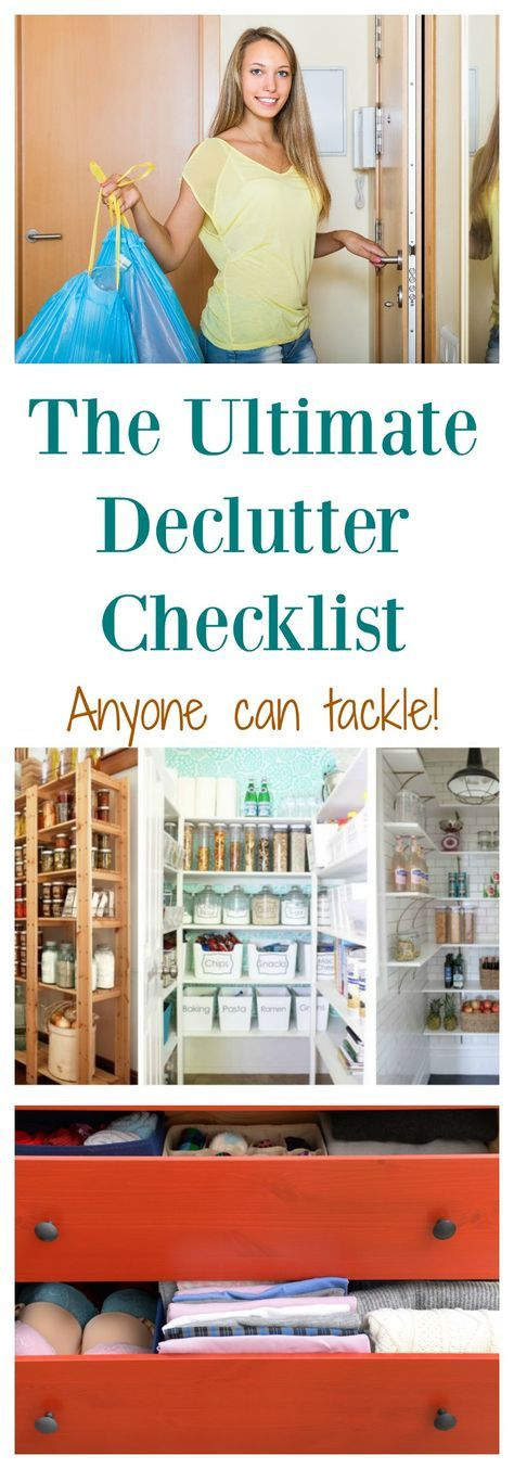 The ULTIMATE Declutter checklist that anyone can tackle- get organized today!