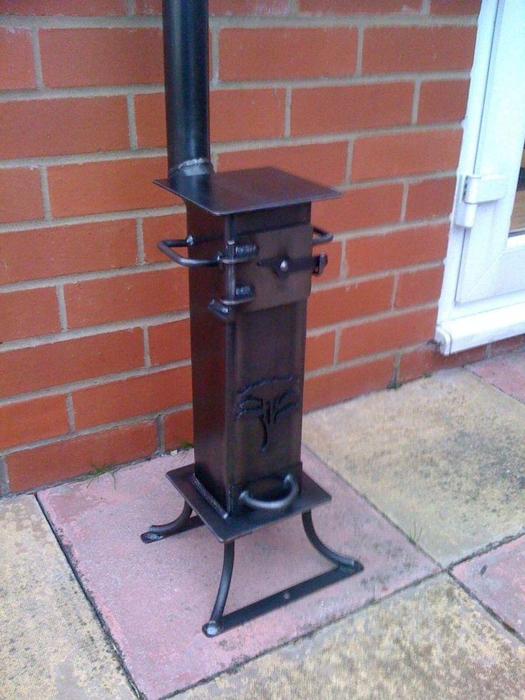 Gypsy stove boat heater caravan heater wood burner boat for Small rocket heater
