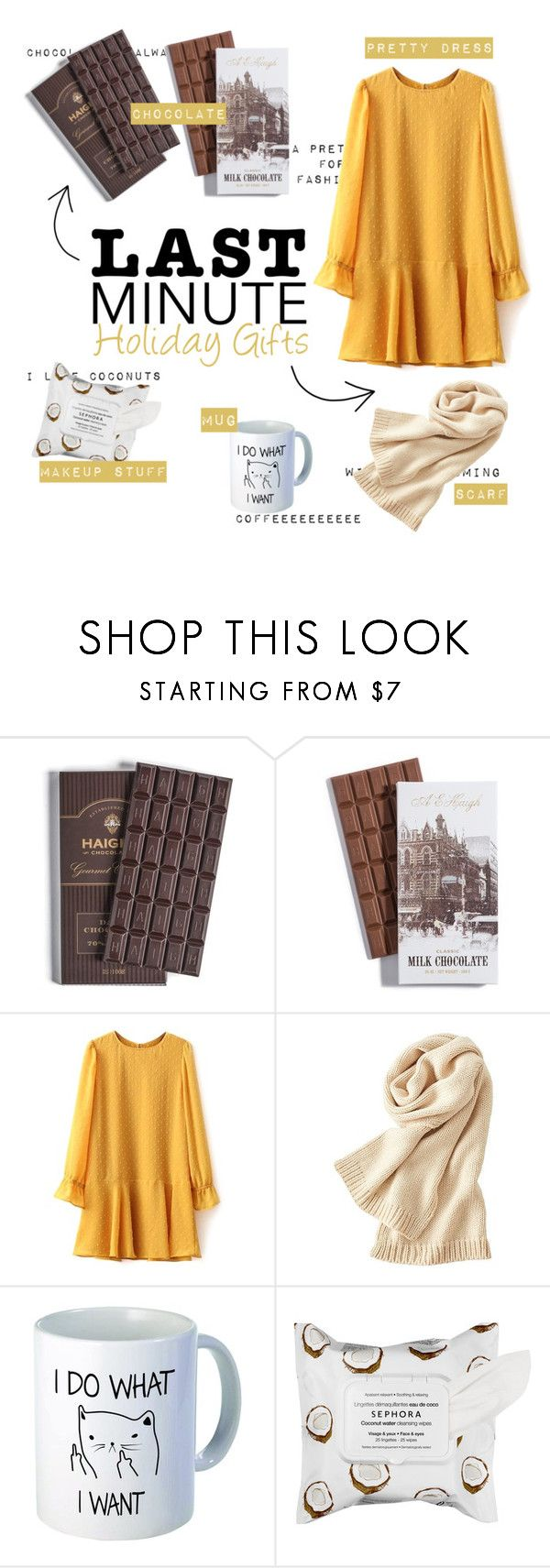 """""""Last minute holiday gifts"""" by aninhad-von ❤ liked on Polyvore featuring Uniqlo and Sephora Collection"""