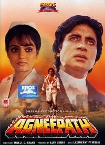 Agneepath (Hindi: अग्निपथ;English:The Path of Fire) is a 1990 Bollywood crime film directed by Mukul Anand. It stars Amitabh Bachchan, Mithun Chakraborty, Madhavi, and Rohini Hattangadi, with Danny Denzongpa as the villain. It was produced by Yash Johar.