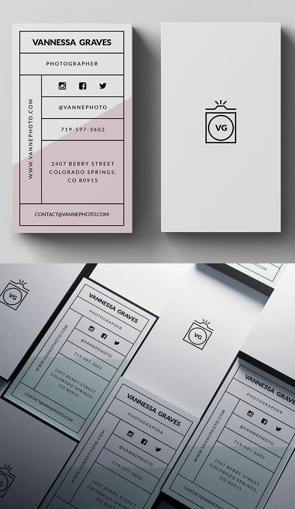 Stylish Business Card PSD Template