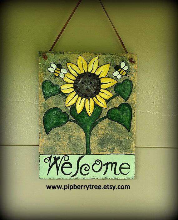 Decorative Slate Signs Mesmerizing 13 Best Welcome Slate Signs Images On Pinterest  Slate Signs Inspiration Design