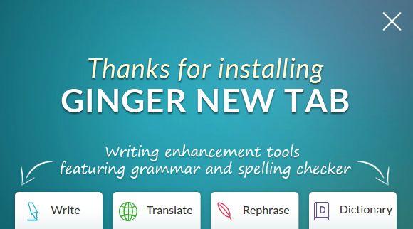 Ginger New Tab