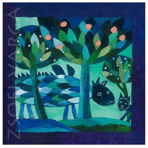 #dragon #etsy #blue #giclee print #art #contemporary art #wall decor