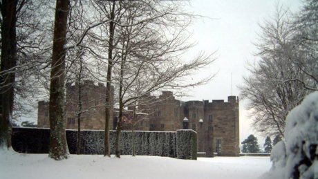 Castle Drogo covered in snow, Devon © Castle Drogo staff/National Trust