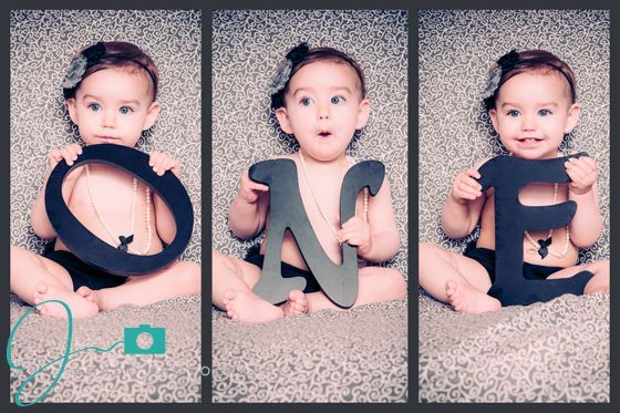 Great idea for 1 year old photo shoot.