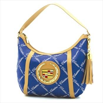 #Blue #Cadillac #Monogram #Hobo Bag with tassle.  $60