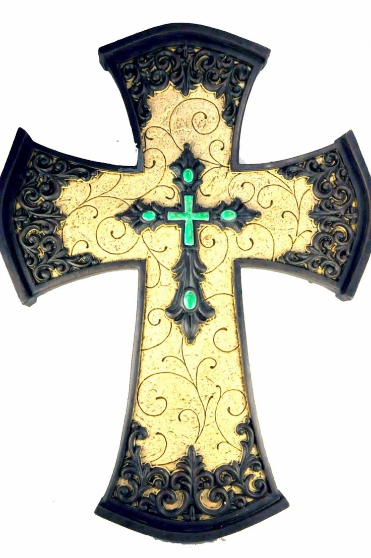 Crosses decor   flavor of the southwest cross, has turquoise cross inlaid