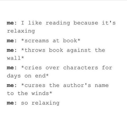 Je ferais tout sauf le dernier, mais ça reste assez drôle. :)   – Book stuff