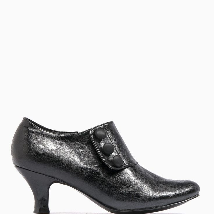 Hello ! WinterHow lovely are these covered up heeled ankle shoe booties. Featuring decorative buttons, a 6cm heel and inside zip. Perfect for wearing with a skirt or dress to work - $79.95