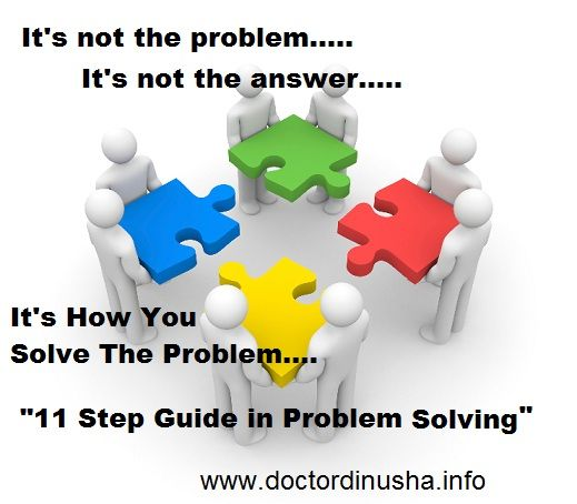 """""""11 Step Guide In Problem Solving"""""""
