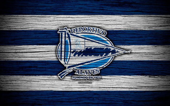 Download wallpapers FC Deportivo Alaves, 4k, Spain, LaLiga, wooden texture, soccer, Deportivo Alaves, football club, La Liga, Deportivo Alaves FC