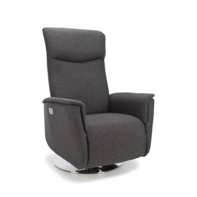 Höchster Komfort für moderne Wohnräume - der Relaxsessel Medium Gina von vito.Der Fernsehsessel verfügt über eine manuelle Verstellung der Fußstütze und Rückenlehne und eine frei verstellbare Kopfstütze. Somit können Sie den Sessel individuell an Ihre Bedürfnisse anpassen.Mit dem Diskfuß aus gebürstetem Metall ist außerdem eine Drehung um 360 Grad möglich, sodass der Sessel problemlos ganz verschieden im Raum ausgerichtet werden kann.Bezugsmaterial: 72% Polypropylen, 27% Polyacryl, 1%…