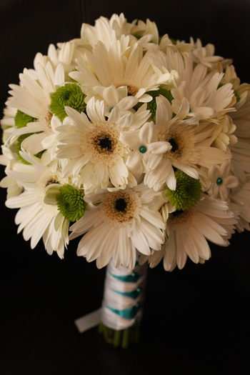 Not boring like this one...teal and coral daisies with sunflowers in this shape :)
