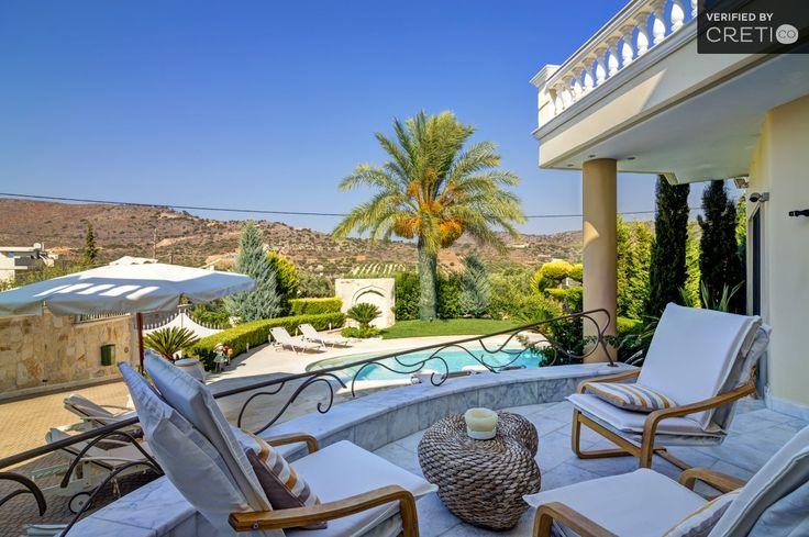 Luxury villa Kokalis with neoclassical architecture, Gouves | Cretico