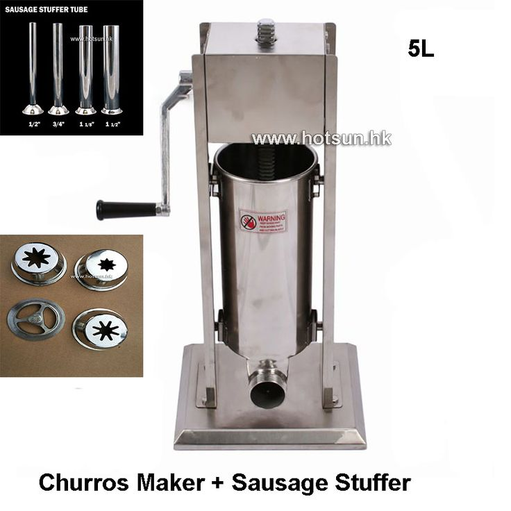 Free Shipping Commercial 5L Heavy-duty Vertical Stainless Steel Spanish Churro Maker Sausage Filler Stuffer #Affiliate