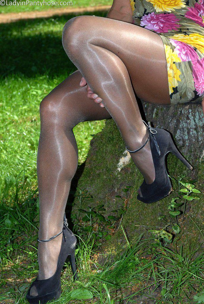 Both glossy shiny pantyhose combo!! hell yea