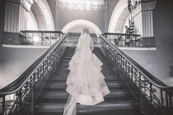 LOVE this wedding train...........  Lazaro wedding gown from Eternal Bridal / Pelizzari Photography / Worn by real bride Elizabeth
