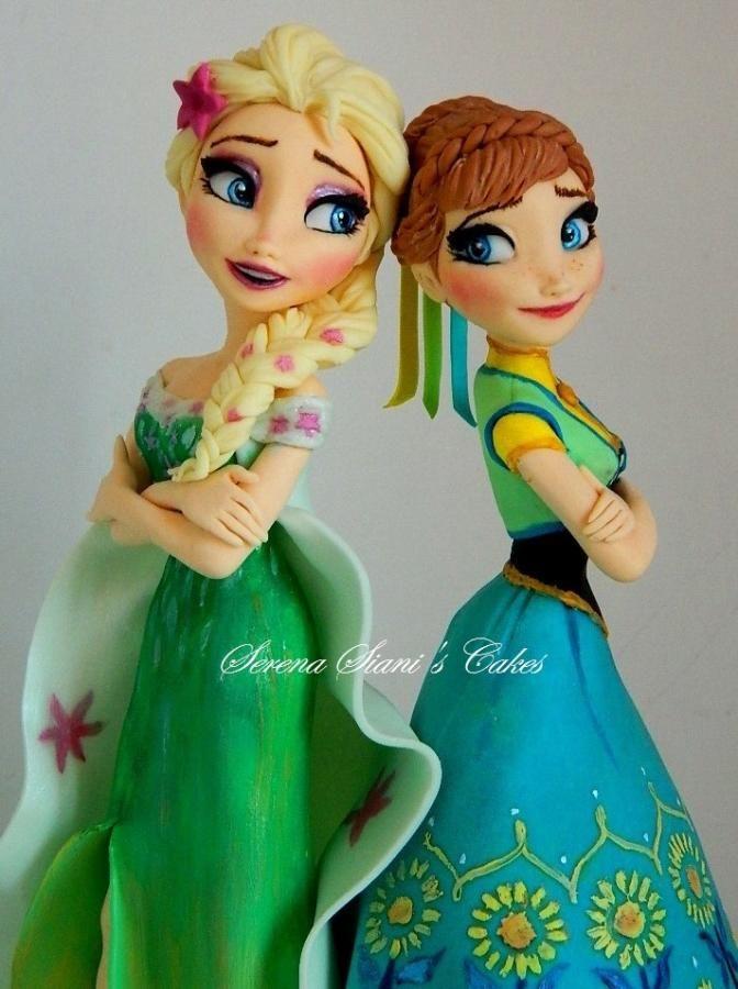 Frozen fever cake topper by Serena Siani