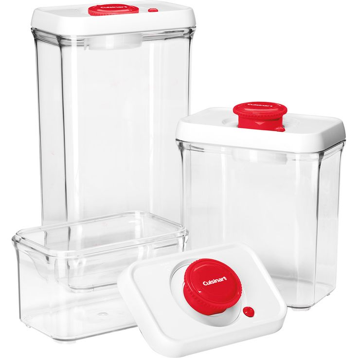 Fresh Edge� 6-Piece Vacuum Sealed Food Storage Containers