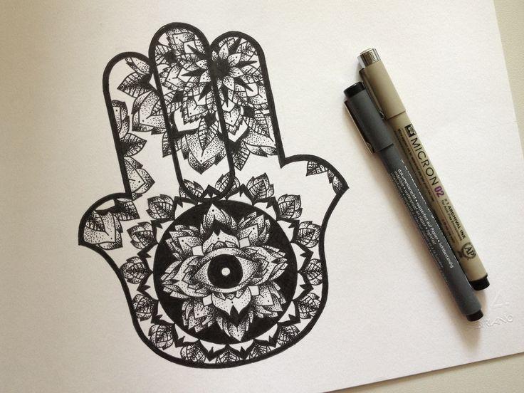 mandala style hamsa tattoo ideas pinterest beautiful. Black Bedroom Furniture Sets. Home Design Ideas