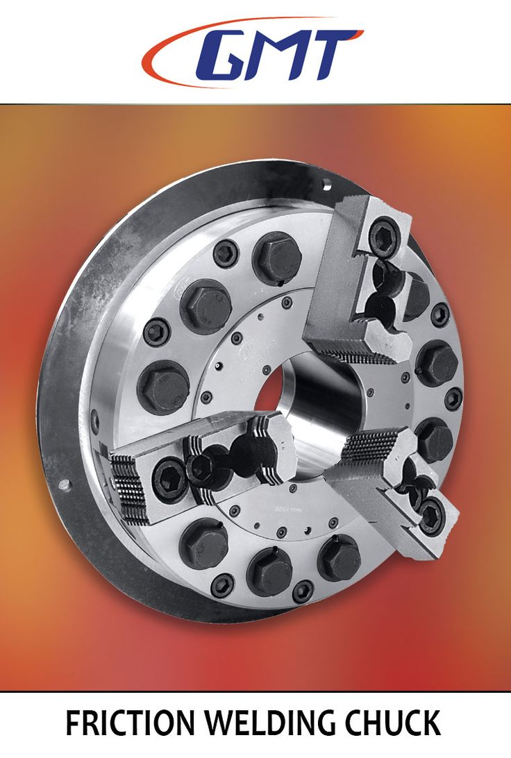 """This chuck is used to hold the component in the friction welding process. Friction welding (FRW) is a solid-state welding process that generates heat through mechanical friction between workpieces in relative motion to one another, with the addition of a lateral force called """"upset"""" to plastically displace and fuse the materials. Technically, because no melt occurs, friction welding is not actually a welding process in the traditional sense, but a forging technique."""