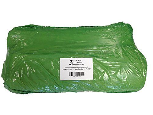 Cheap Cheap Moving Boxes Packing Paper, Large Bundle, 24 x 36 Inches (20#)  This large bundle of packing paper is an economical way to pack and protect fragile items from the stresses of moving or shipping and used by professional movers nationwide for just that purpose. Ideal for wrapping dishes, glasses, fine china and other fragile items in the home. Use this clean, white ink-free paper instead of newspaper to keep your valuables and hands clean. Each bundle contains approximately..