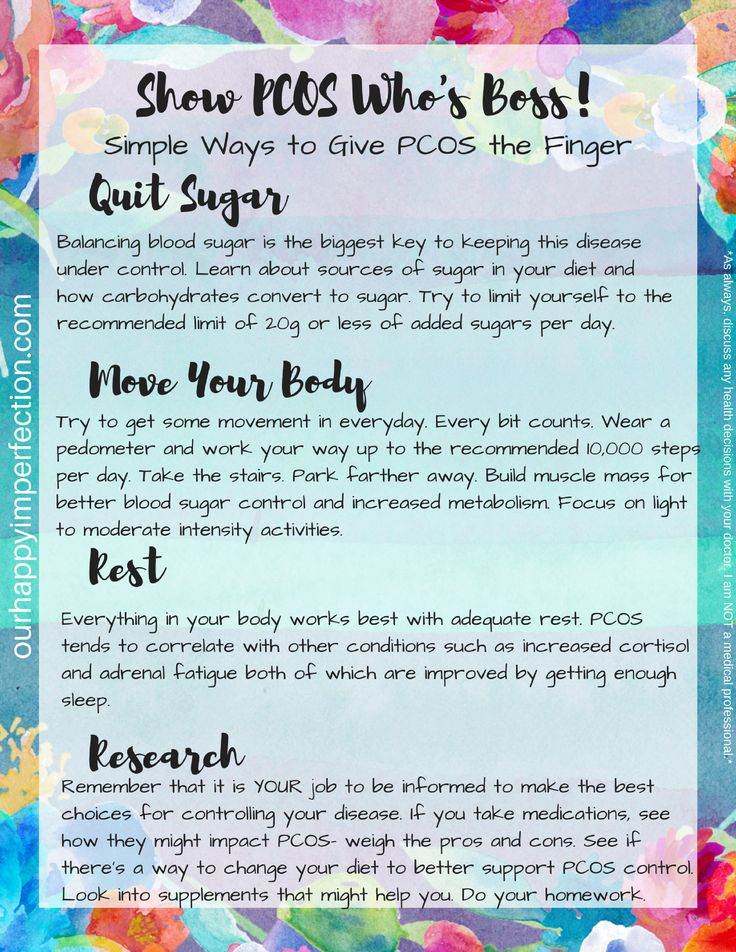 PCOS Polycystic Ovarian Syndrome Action Plan