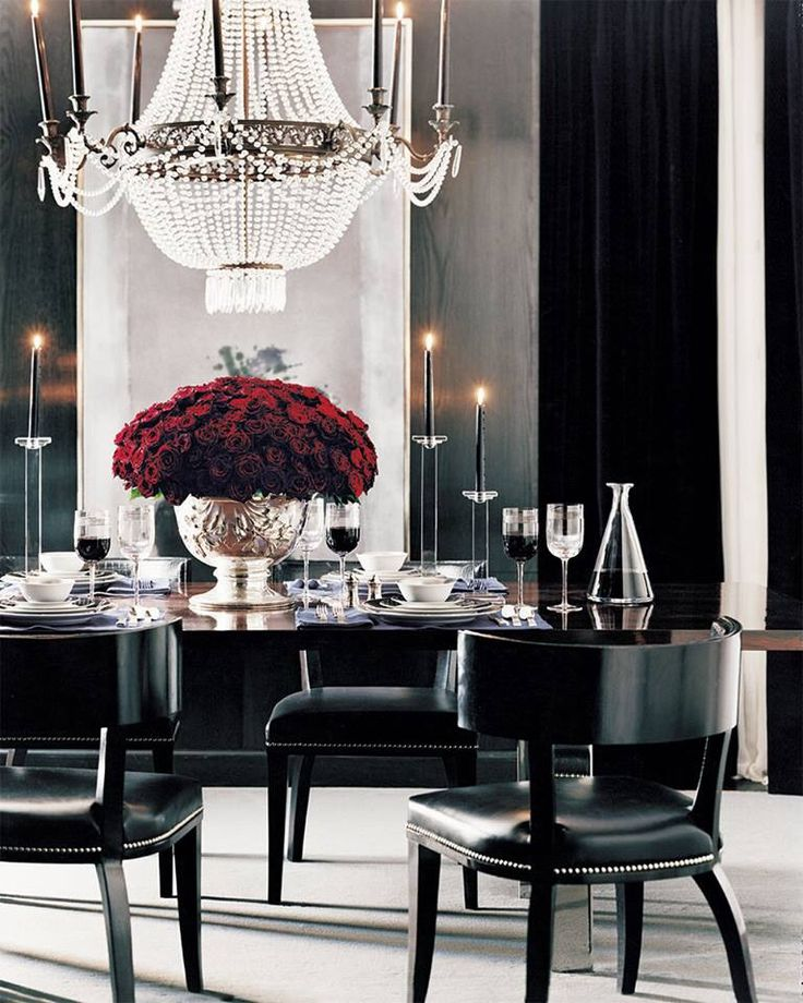 Black And Red Dining Room: Black & Red Elegance