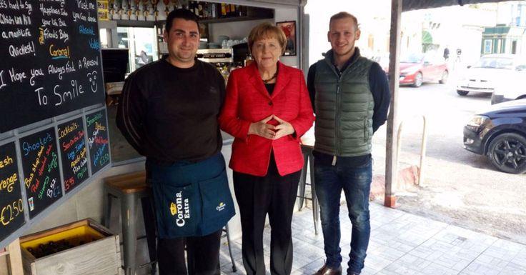 Angela Merkel in Ta' Xbiex