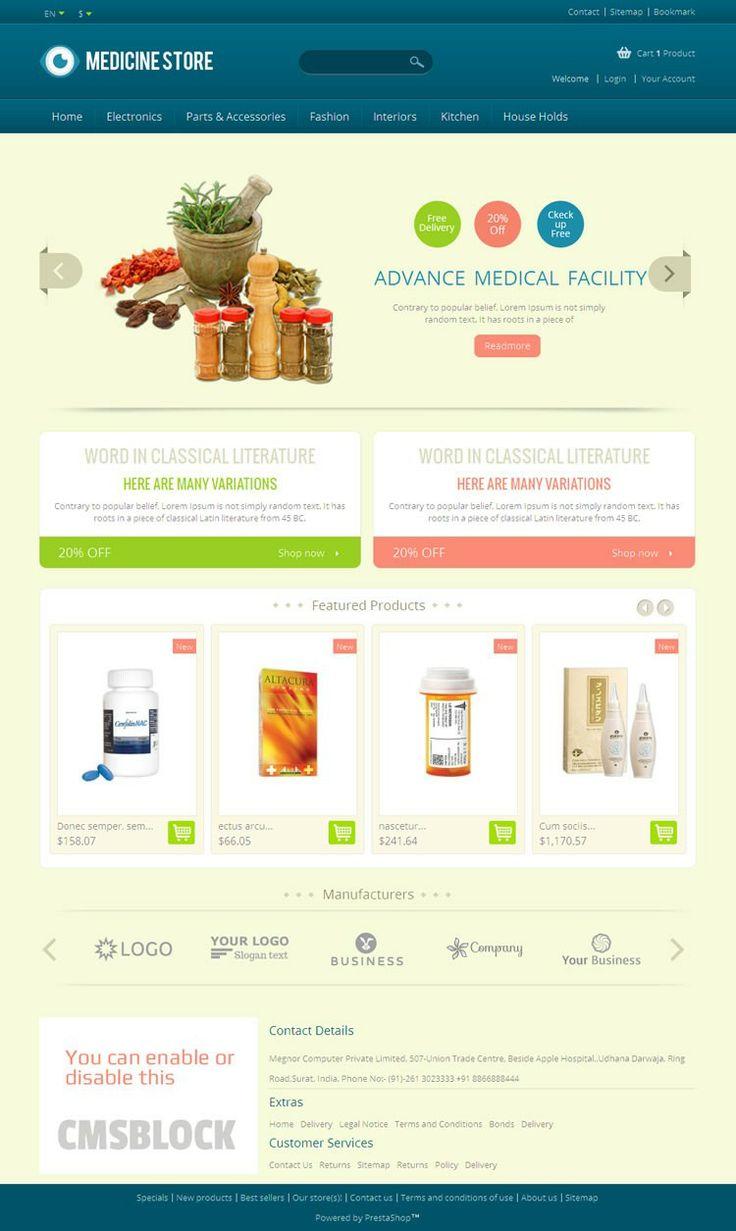 Colors for professional website - Medicine Prestashop Template Is Designed For Medicine Helpt Drug And Health Care Store
