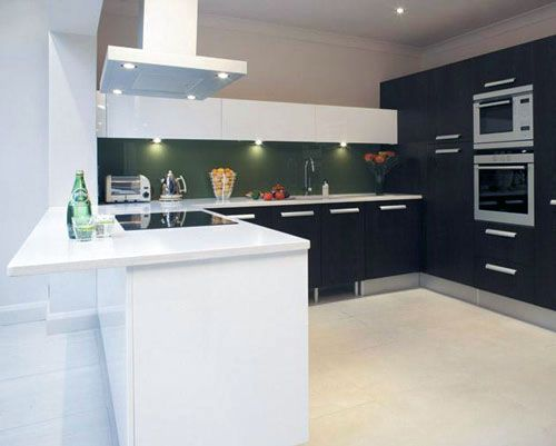 Painting Kitchen Cabinets Black and White