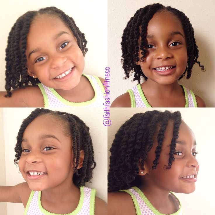 Two strand twists Natural hair Natural hairstyles for kids…