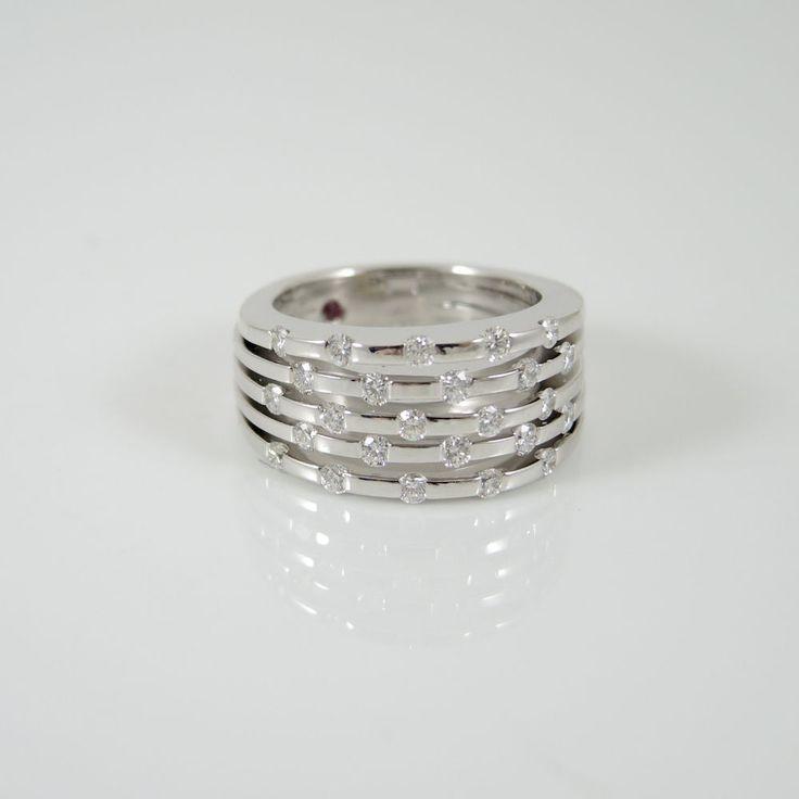 Roberto Coin 18k Gold Pave Diamond Ring g9Fcqu2q