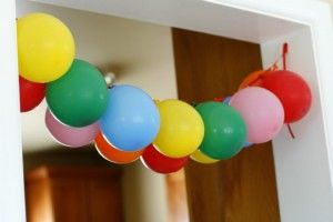 Balloon banner for the birthday girl