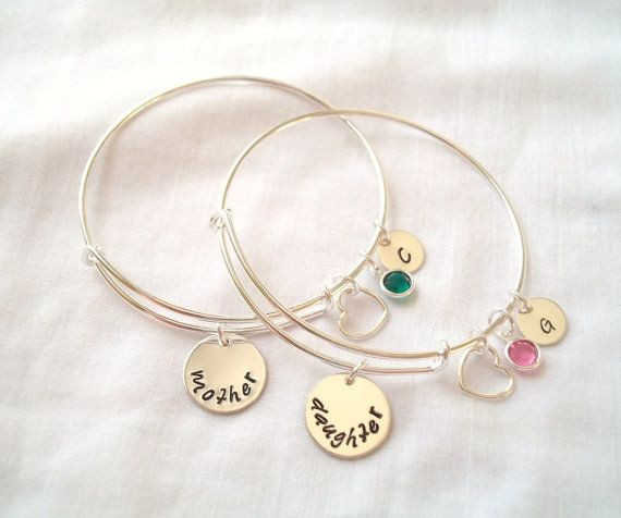 Alex And Ani Style Mother Daughter Bracelet By Theblueeyedbeader Handmade Jewelry Accessories Pinterest